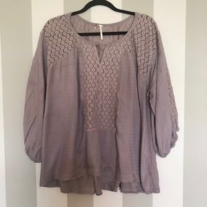 Free People Periwinkle Oversize Top - D30